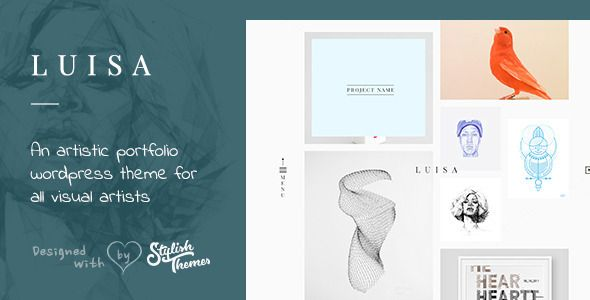 LUISA - Minimalist Portfolio \ Blogging WP Theme Wordpress - wordpress resume theme