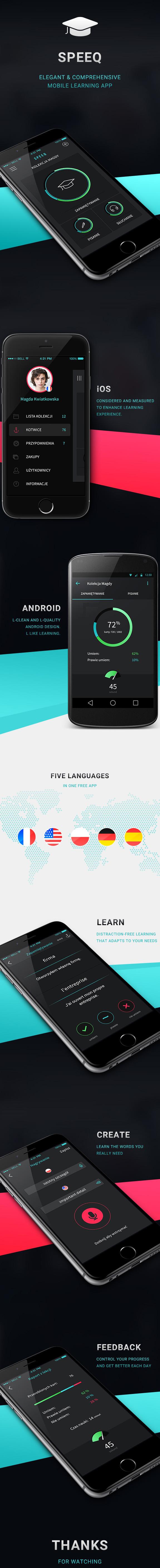 Mobile App Design Inspiration – SPEEQ Learning Mobile App