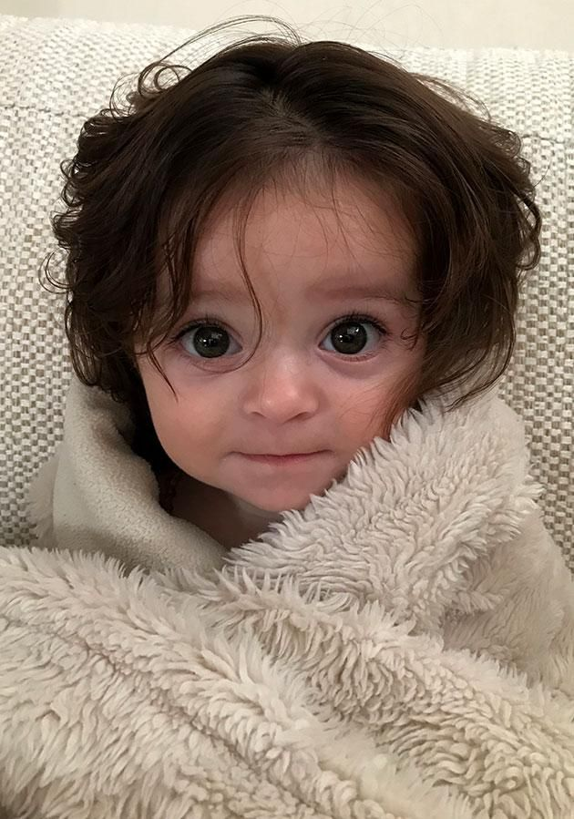 Is This Australia S Longest Haired Baby New Baby Products Baby Cute Babies