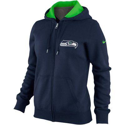085d87ae Nike Seattle Seahawks Women's Tailgater Full Zip Hoodie - College ...