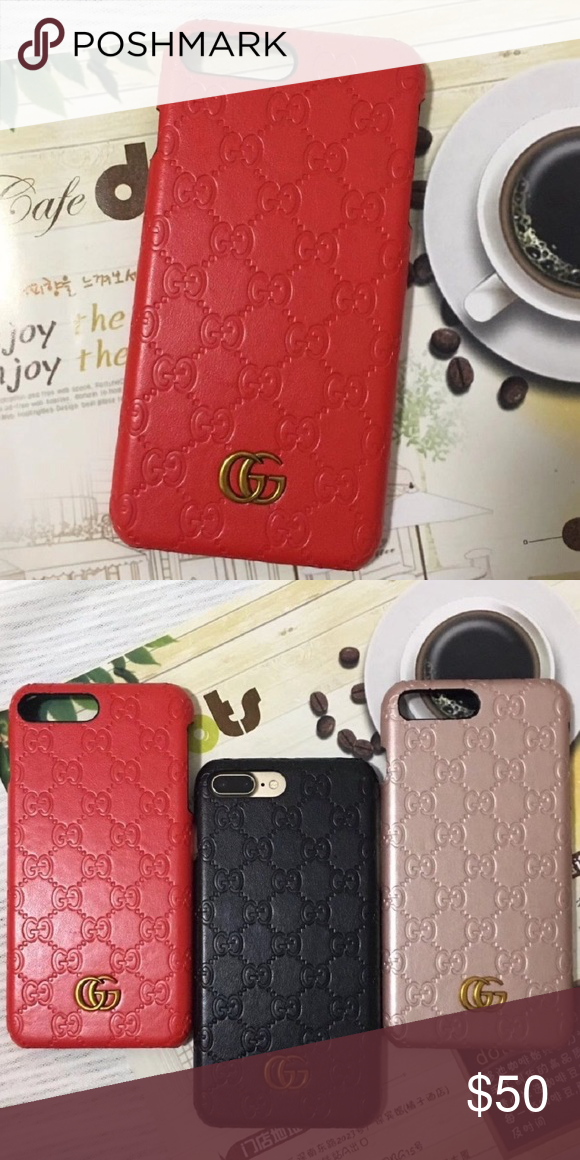 ffa610f9693 Gucci iPhone 7 8plus case •red case •new never used •iPhone 7 8 Plus   no  returns Gucci Accessories Phone Cases