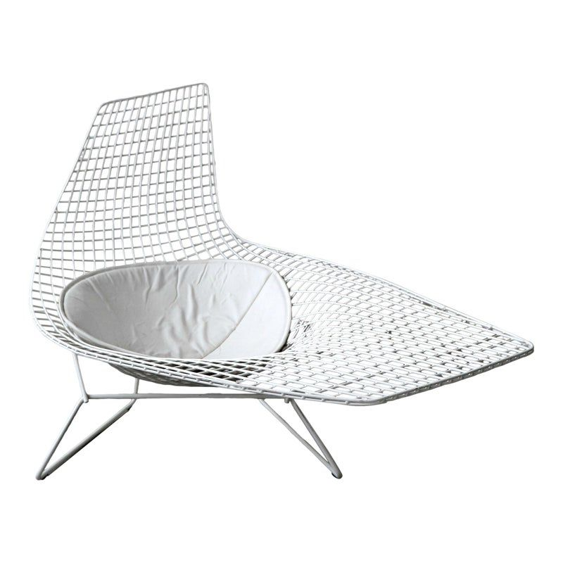 Authentic Knoll Bertoia Asymmetric Chaise In 2020 Knoll Bertoia Bertoia Minimalist Chair