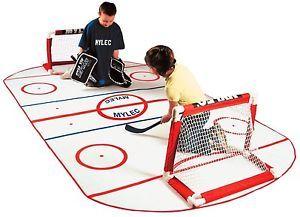 Mini Sticks Knee Hockey Rink Indoor Mat For Net Puck Boys Kids Fun Gift Team Hockey Bedroom Hockey Birthday Hockey Bedroom Decor