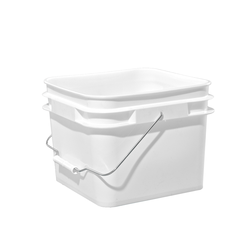 Illing Part 3087 2 1 Gallon White Plastic Square Open Head Pail W Metal Bail Plastic Square Open Head Pails Are Availab Plastic Pail Pail Metal Containers