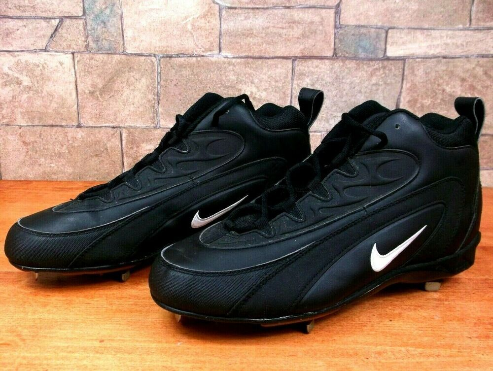 Black nike air football spikes cleats shoes mens size 13