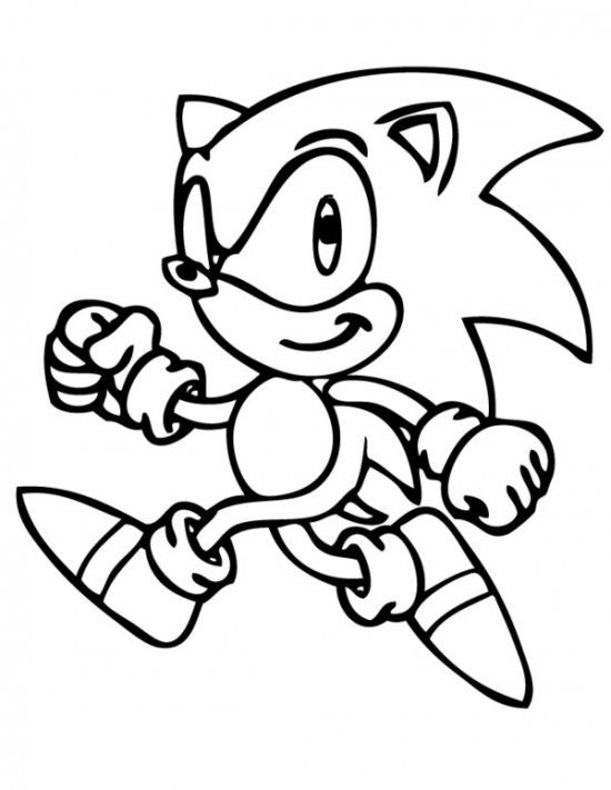 Printable Sonic The Hedgehog Coloring Pages For Kids 4 Year Old