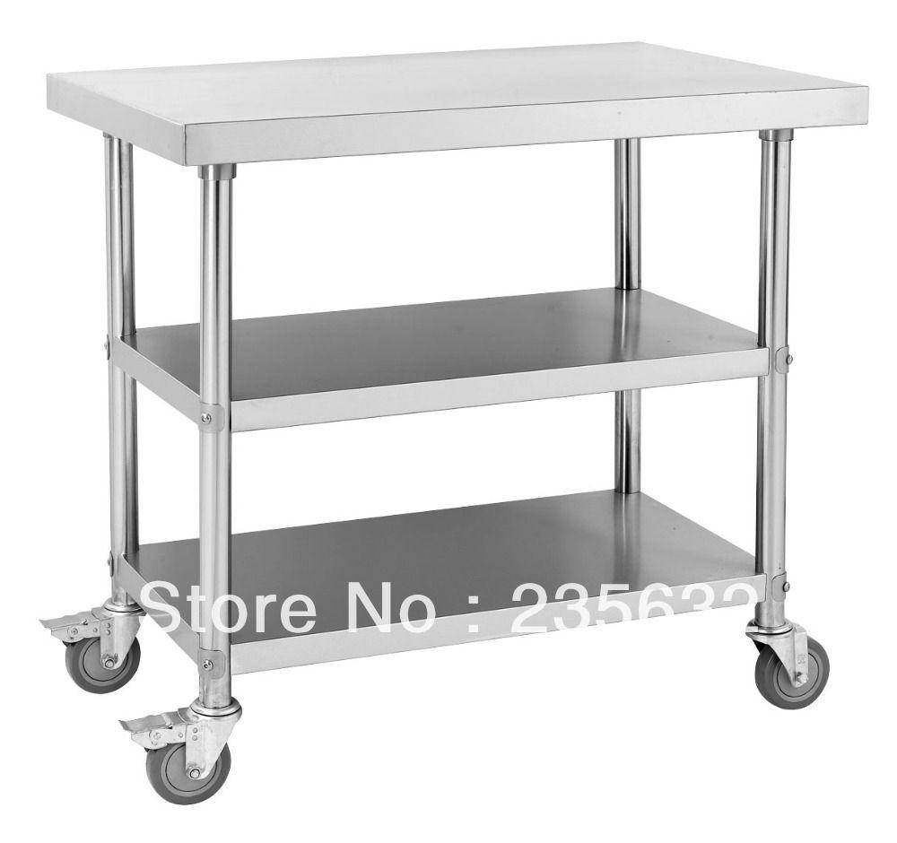 Marvelous Stainless Steel Kitchen Work Table Wheels