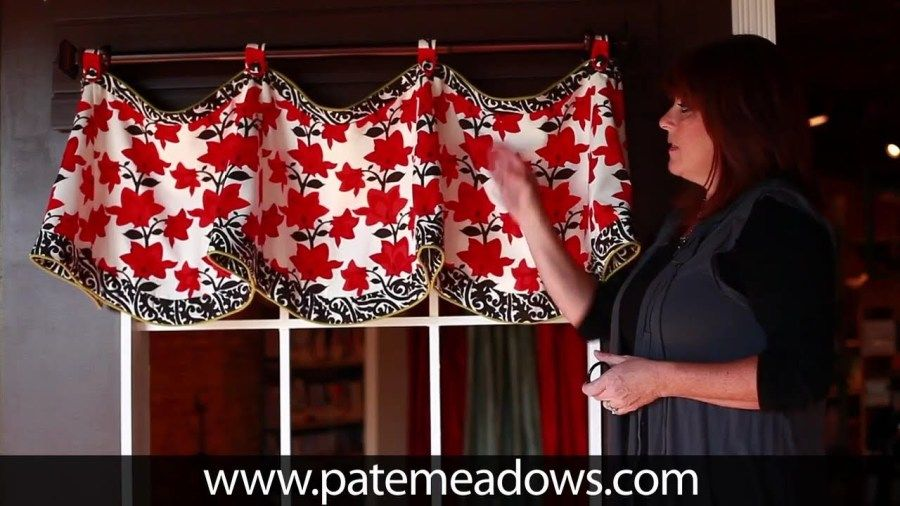 Pate Meadows Lace Up Valance Template Mock Pleated Valance Shade Sewing Pattern DIY Window Treatments Mock Pleats Decorative Valance