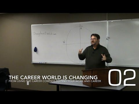 Career Opportunities with Douglas E. Welch » The Career World is Changing from Using the Career Compass to Find Your Work and Career [Video] (1:19)
