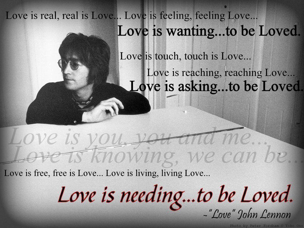John Lennon Love John Lennon Quotes John Lennon Beatles Inspirational Quotes Motivation