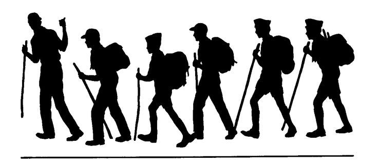Hiker free camping and hiking clipart graphics images