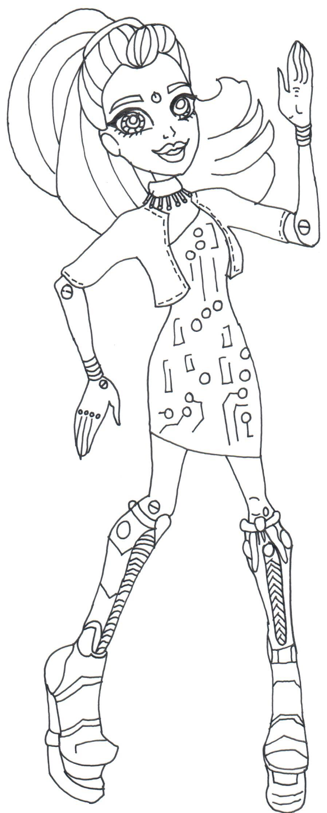 Elle Eedee Monster High Coloring Pages 645x