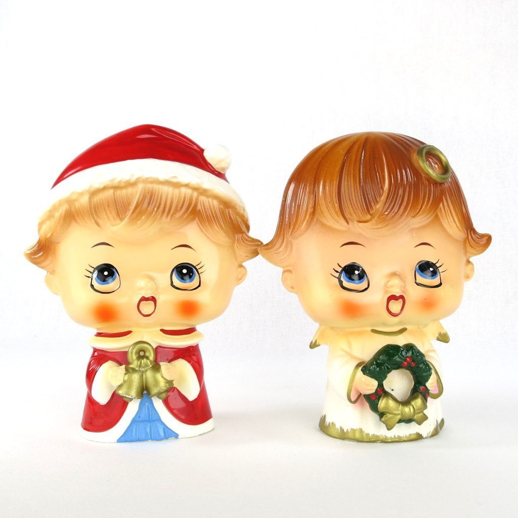 Christmas carolers figurines for sale - Mid Century Christmas Caroler Figurine Pair Big Head Lipper Mann Japan 34 Http