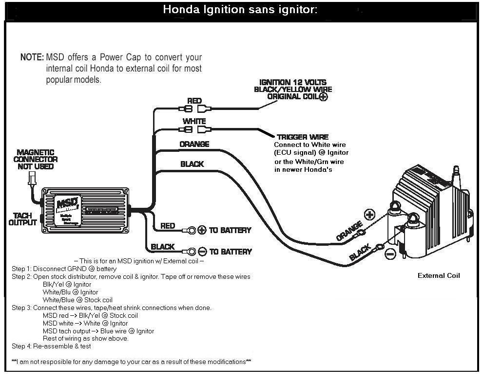 MSD IGNITION WIRING DIAGRAM « Auto Hardware | Wire, Msd, IgnitePinterest