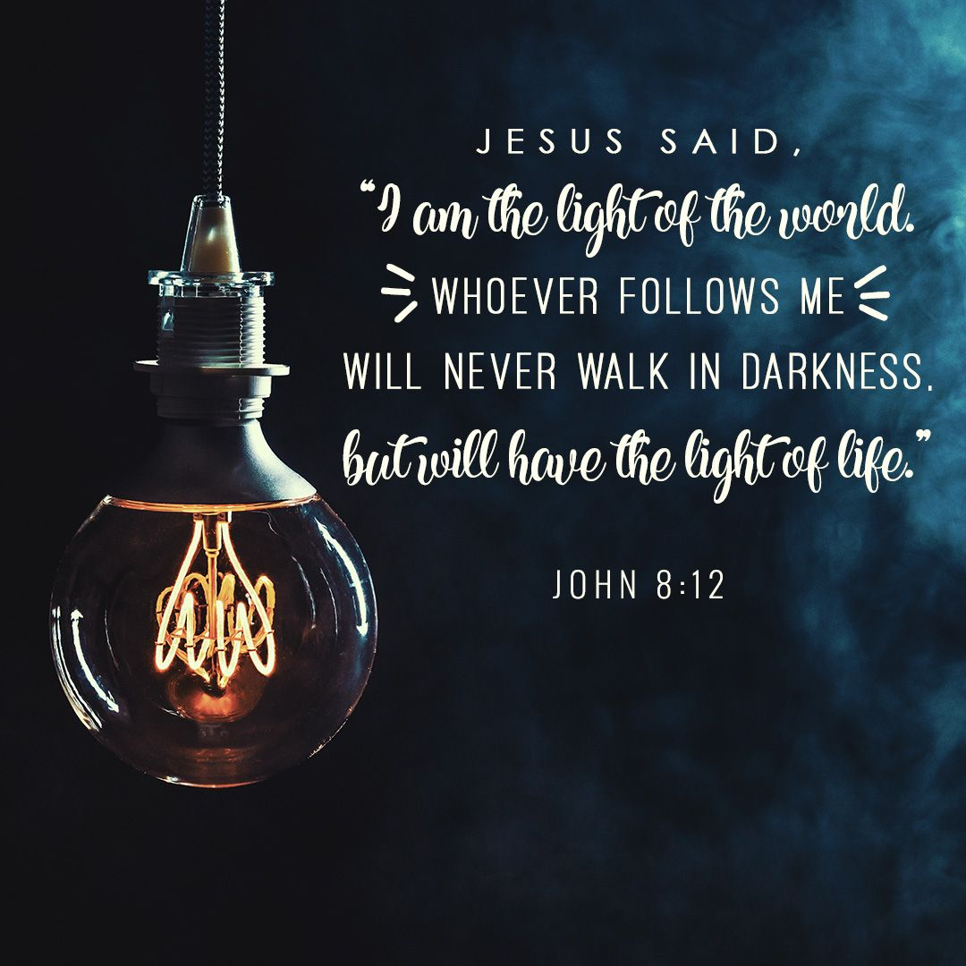 Jesus said, 'I am the light of the world. Whoever follows me will never  walk in darkness, but will have the ligh… | Light of the world, Light of  life, Jesus quotes