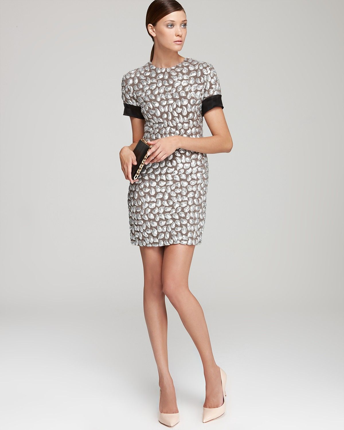 DIANE von FURSTENBERG New Cindy Puffy Sequins Dress &amp Platform ...