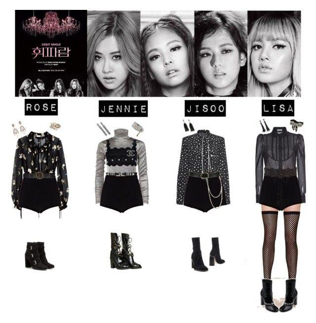 Black Pink Whistle Kpop Fashion Outfits Korean