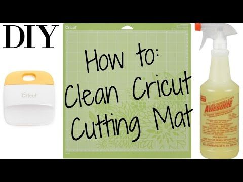 Diy How To Clean Your Cricut Cutting Mat Youtube