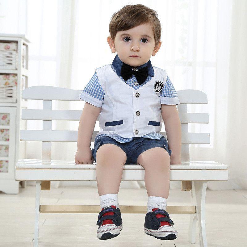 2015 New Arrival Baby Boy Clothing Set Gentleman Kids Clothes Boy