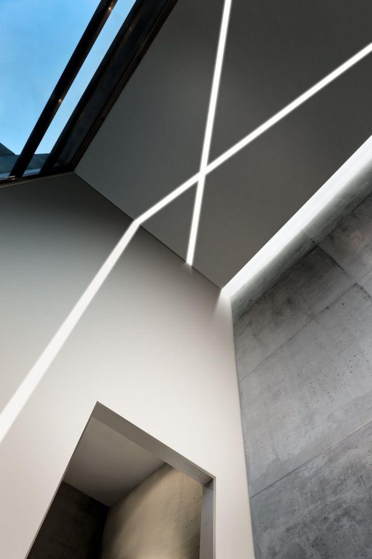 Kaltweisses Licht Passt Zu Betonwande Modell Nolita Eco Lineare Beleuchtung Beleuchtung Deckenarchitektur