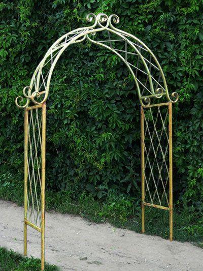 Wrought Iron X Arch Flower Trellis Arbor Garden Decor For Yard
