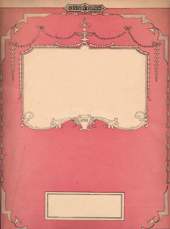 Vintage Book Cover Frame ~ Vintage background image photo free trial bigstock