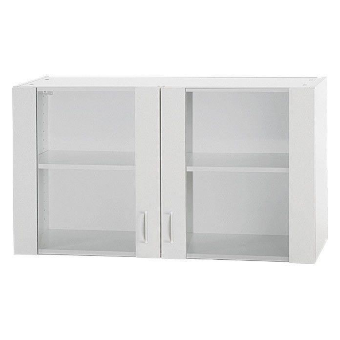 Glashängeschrank Küchen-Hängeschrank Oberschrank Glastüren ...