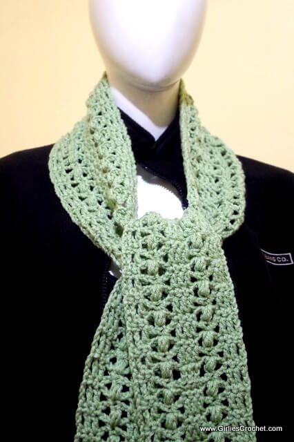 Free crochet pattern: Elena Crochet Scarf (with photo tutorial ...