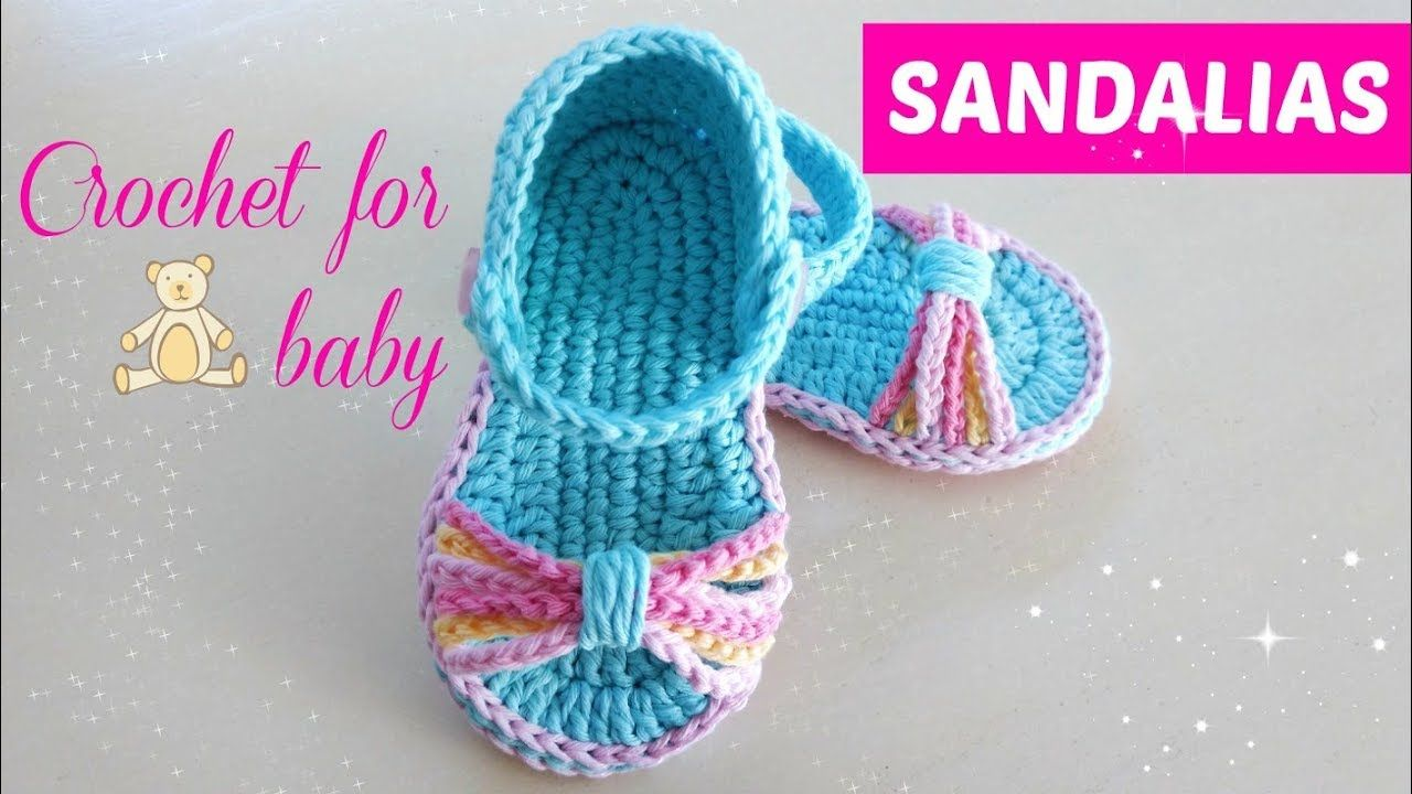 2c9f9847 Sandalias crochet para bebe paso a paso 6 a 9 meses | Niñas y Niños ...