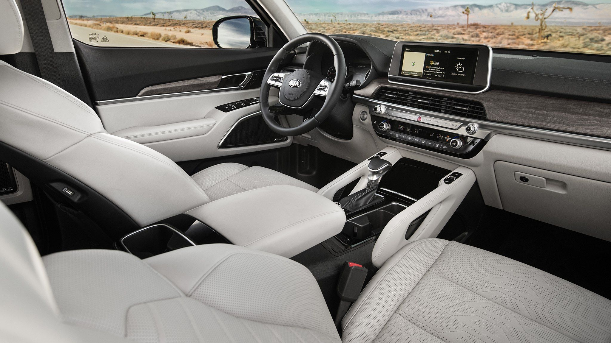 The 2020 Kia Telluride Is A Handsome Three Row Suv With New Tech Mid Size Suv Suv Comparison Kia