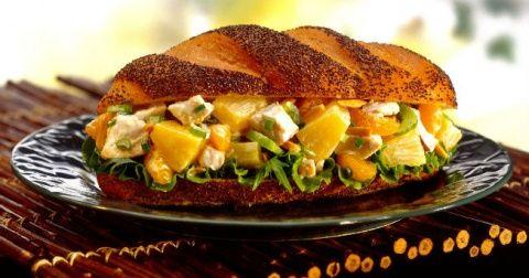 Sándwich de vegetales bajo en calorías class=