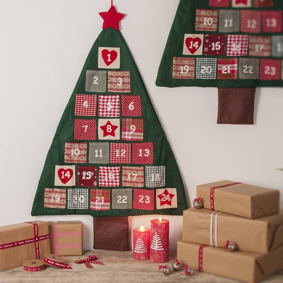 Felt Christmas Tree Advent Calendar: A Felt Advent Calendar, Made/for Sale In The UK. Not