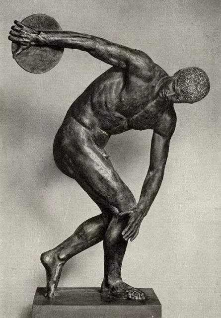 Het Discobolus-standbeeld - Discus Thrower Nationwide Museum of Rome