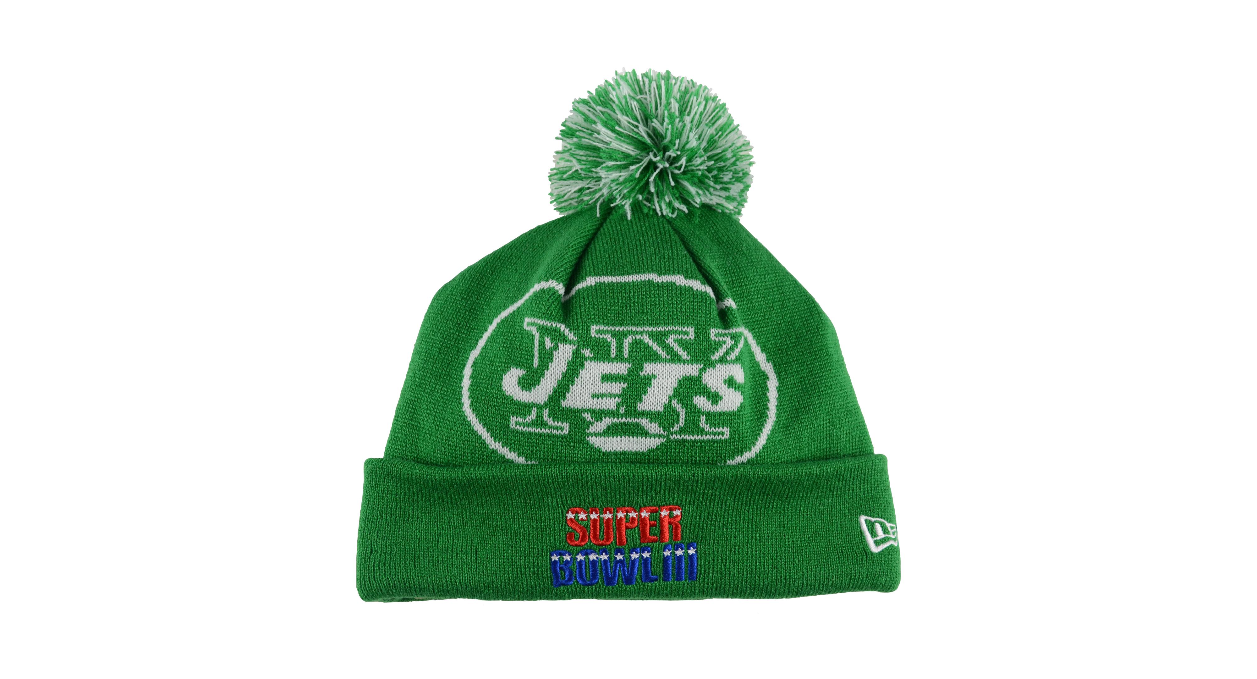 New Era New York Jets Multi Super Bowl Champ Big Team Knit Hat