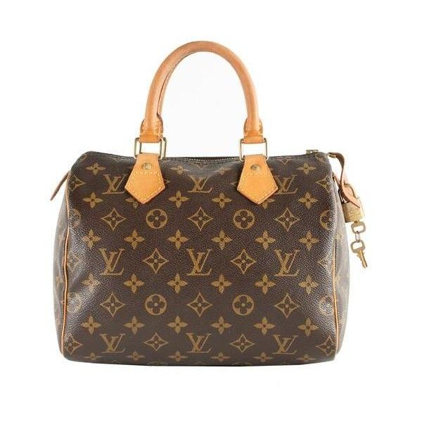 Louis Vuitton Monogram Canvas Speedy 25 Satchel Handbag ($530) ❤ liked on Polyvore featuring bags, handbags, accessories, purses, bolsas, etc, satchel handbags, top handle handbags, canvas handbags and louis vuitton handbags