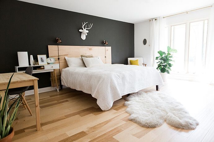 Paint A Black Wall In The Bedroom Feature Wall Bedroom Bedroom Wall Accent Wall Bedroom