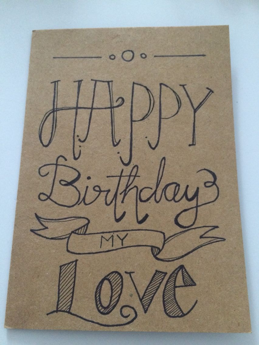 Happy birthday card for my boyfriend handwriting for Birthday present for your boyfriend