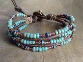 Bohemian beaded womens jewelry gift for her hippie gemstone bracelet beaded bracelet stackable boho bracelet boho chic bracelet –