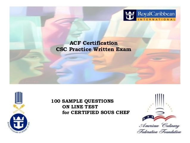 ACF Certification CSC Practice Written Exam 100 SAMPLE QUESTIONS ON ...