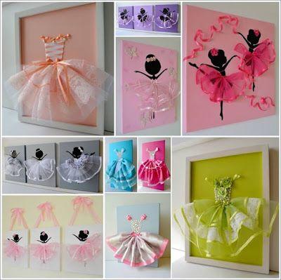 Make A Cute Tutu Dress Wall Art With Ribbons | Diy And Crafts Idea