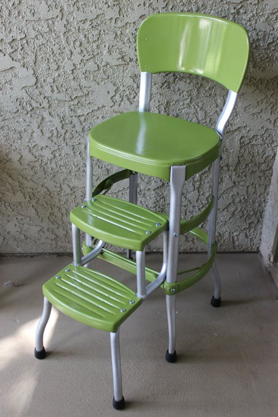 Vintage Green Cosco Step Stool Retro Style Style And