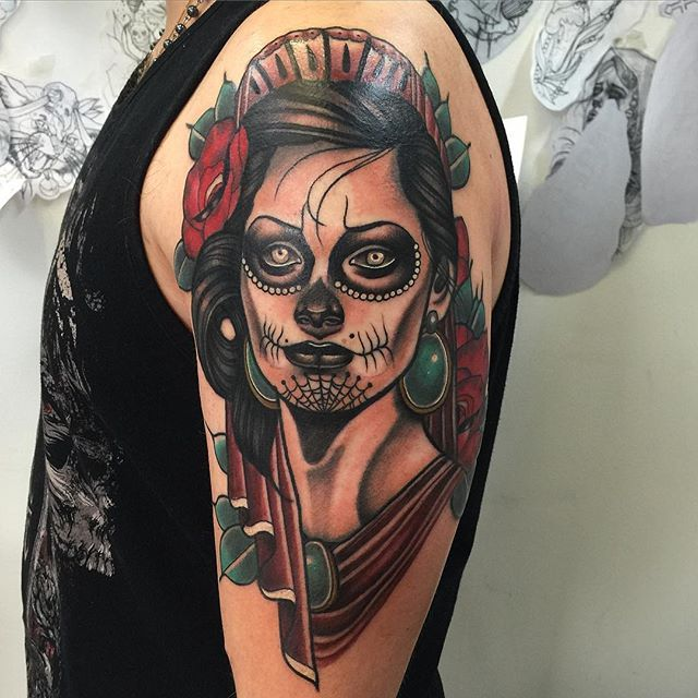 Santa Muerte Today First Step Of A Sleeve Thanks Jordan