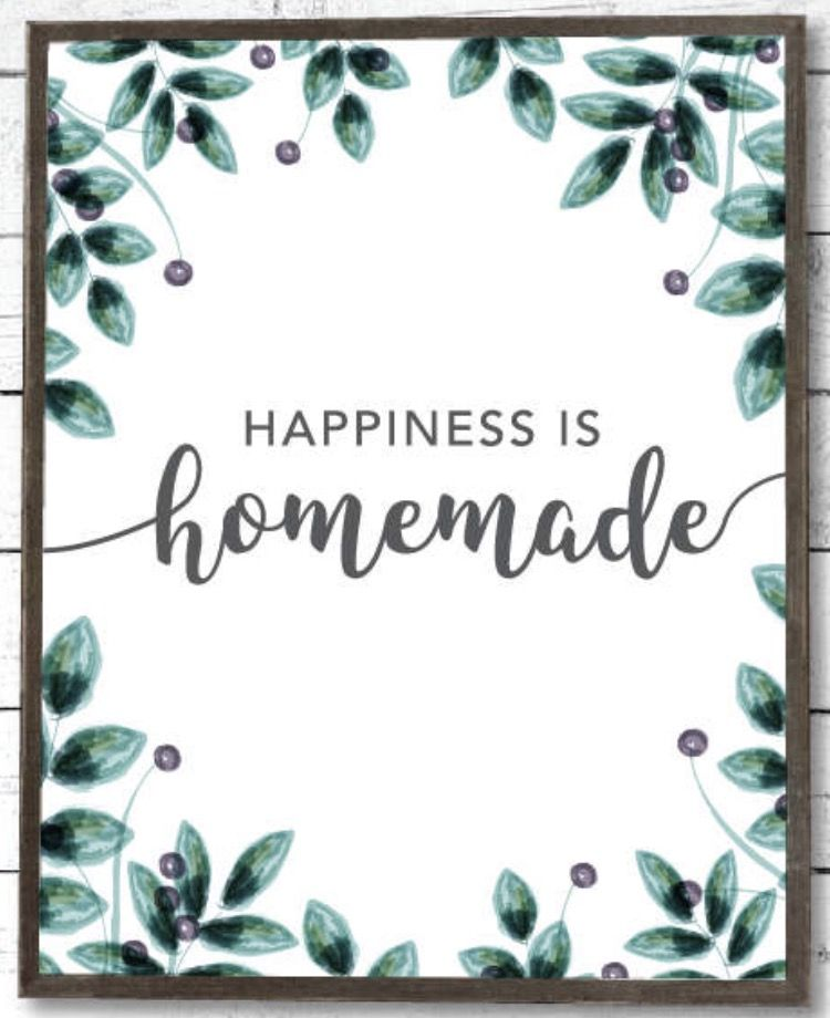 farmhouse sign printables happiness is homemade farmhouse decor woodlands bohemian on farmhouse kitchen quotes free printable id=42870