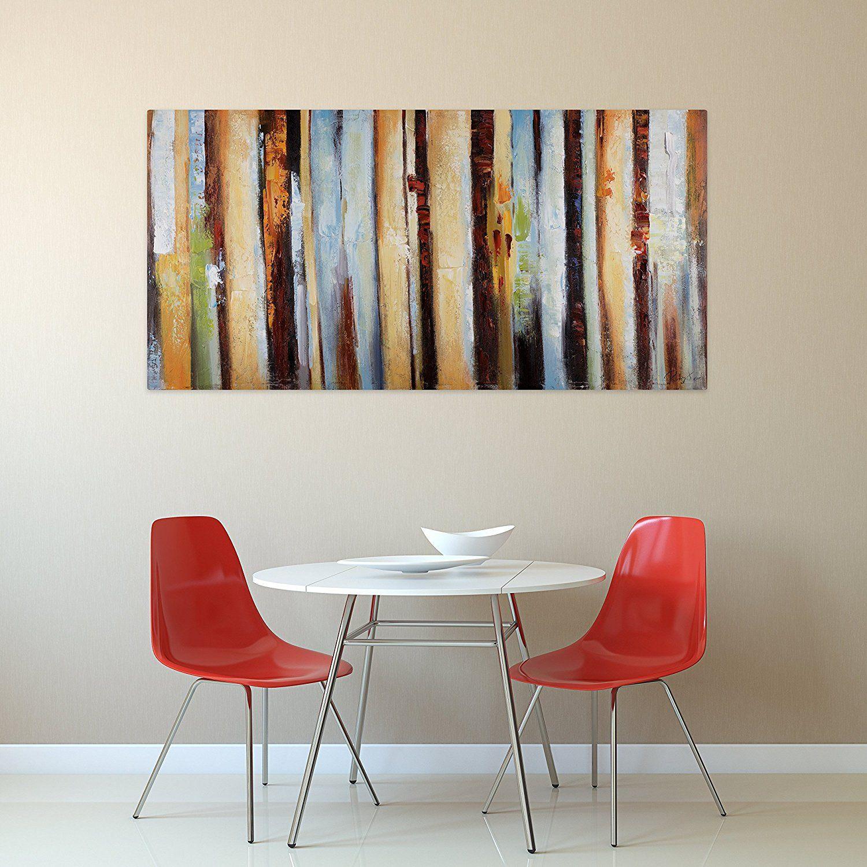Handgemalte Bilder kunstloft acryl gemälde stufen der vollendung 140x70cm original