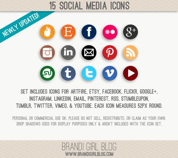 Social Media Icons #freebie