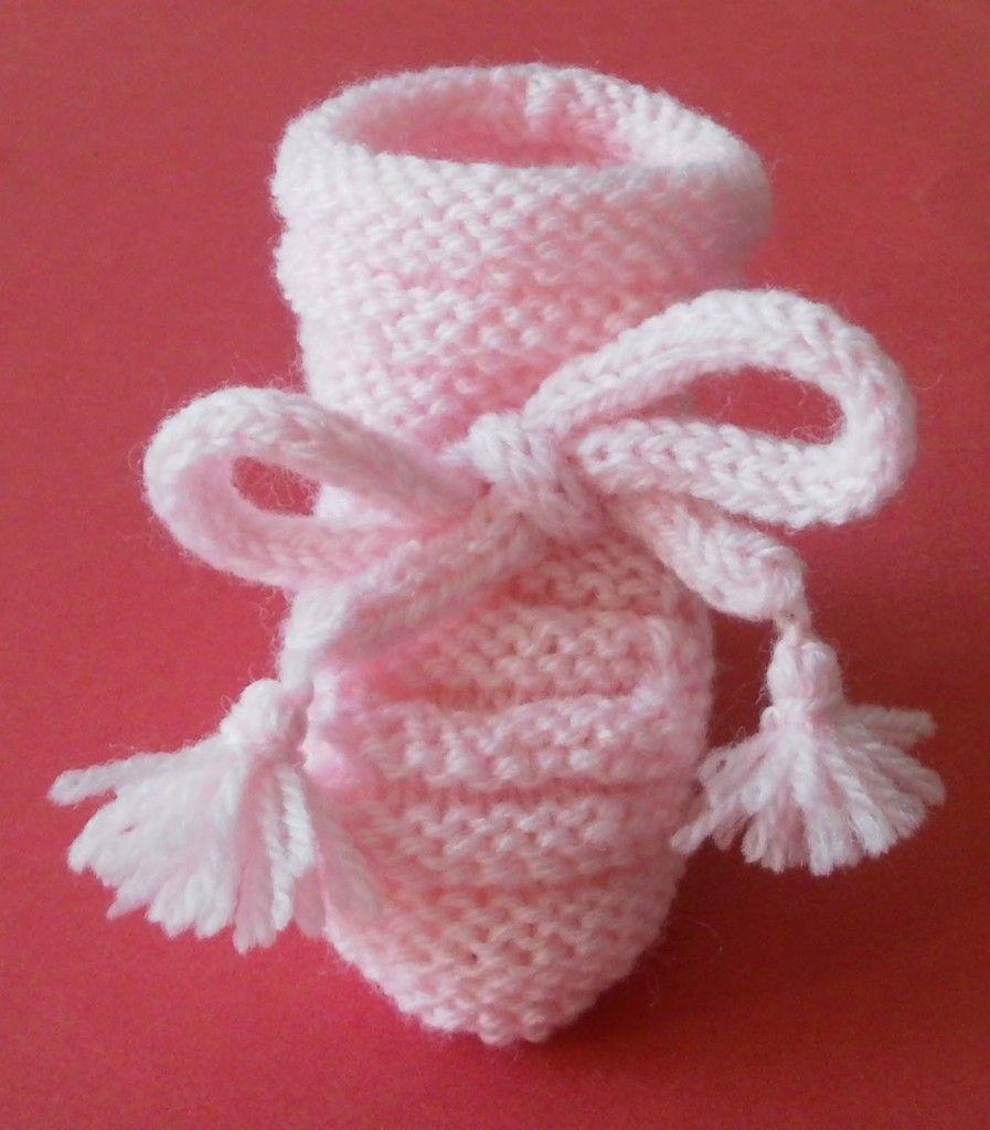 modele chausson bébé tricot facile gratuit | Babys | Pinterest | Babies