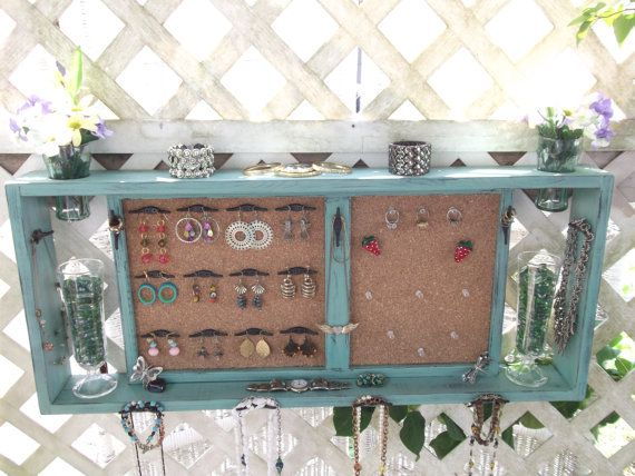 Jewelry Organizer Wall Display Vase Shelf Message Board