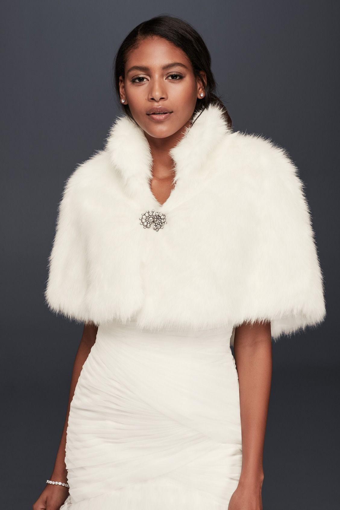 For your coldweather or winter wedding ceremony, a White