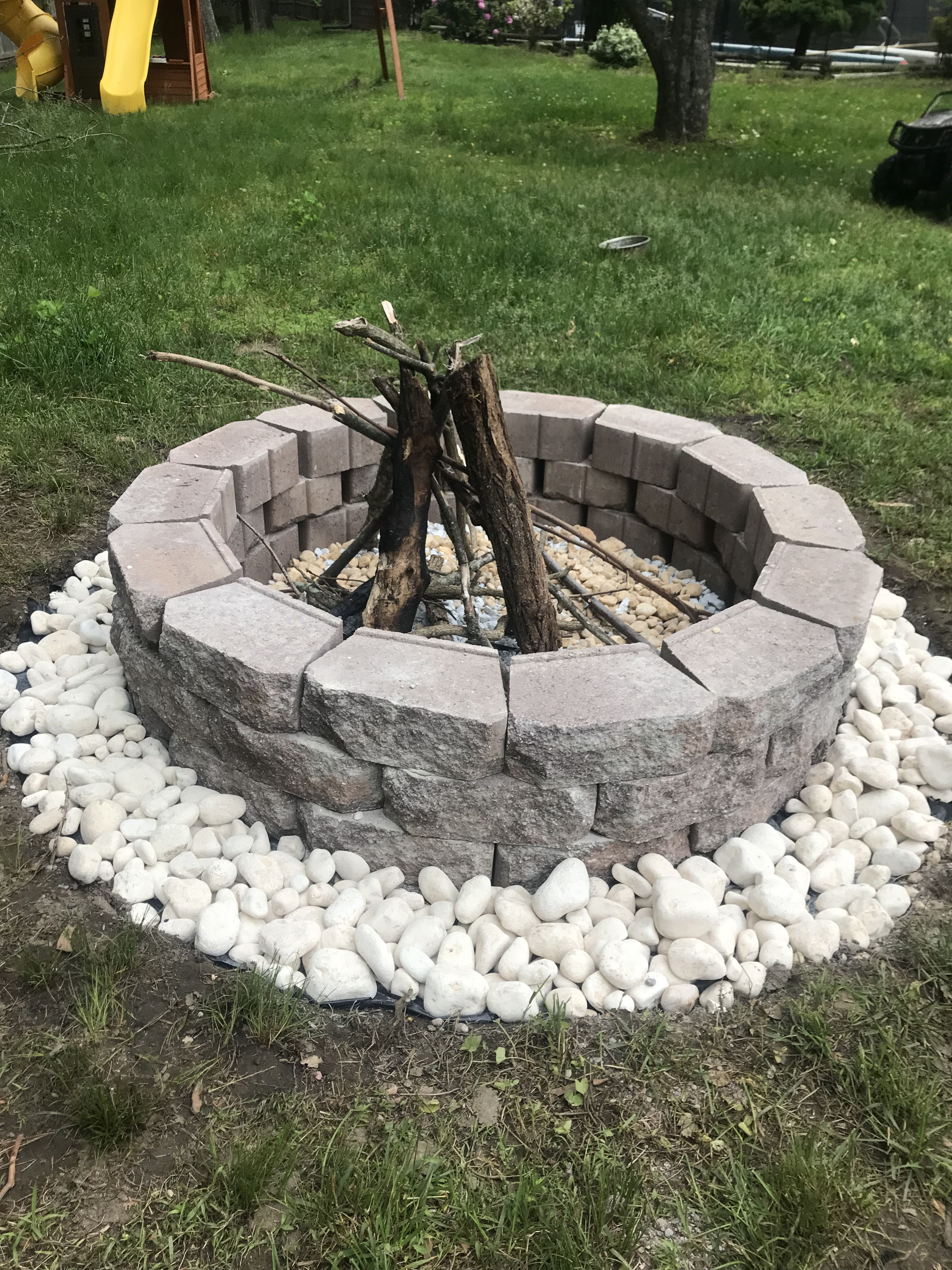 Diy Fire Pit Under 100 All Materials From Home Depot Diy Fire Pit Fire Pit Outdoor