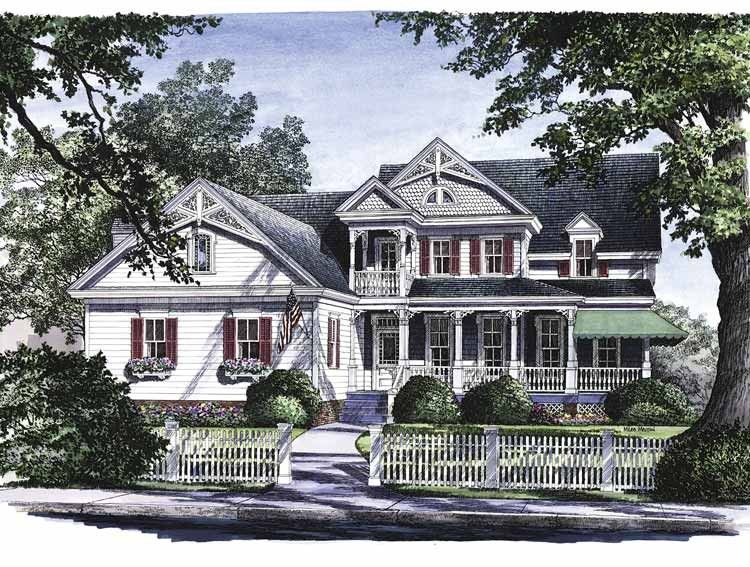 Victorian Style House Plan 4 Beds 3 5 Baths 2753 Sq Ft Plan 137 164 Victorian House Plans Country House Plans Victorian Homes